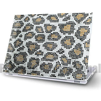 Leopard Notebook Laptop Cover Bling Rhinestone Crystal Sticker Skin 12