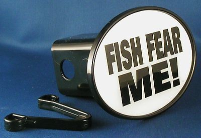 FISH FEAR ME TRAILER HITCH COVER Angling Flyfishing NEW Tow Truck RV