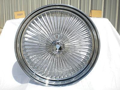 22 DAYTON CHROME 22x8 Wire Wheels Full Set Rims NEW REAR WHEEL DRIVE