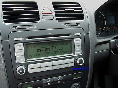 listed VW RCD 300 /CD RDS RADIO WITH SECURITY CODE & VW 3 4