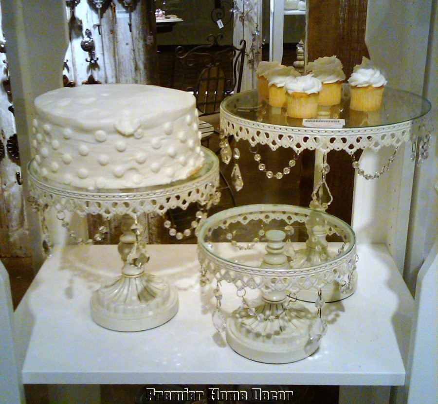 Shabby French Vintage Style St/3 Cake Dessert Stands