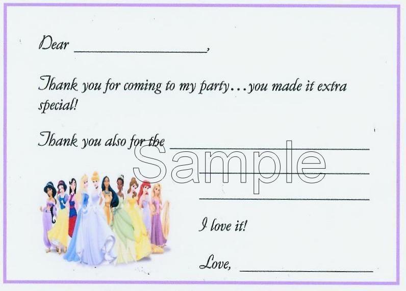 disney princess birthday invitations in Home & Garden