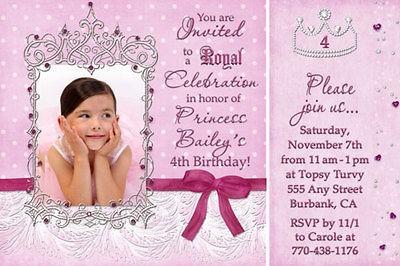 Princess Photo Birthday Party Disney Invitations & FREE Thank You Card