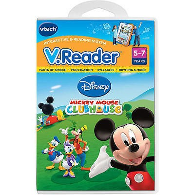 Reader Disney MICKEY MOUSE CLUBHOUSE Vreader Vtech Game NEW Club