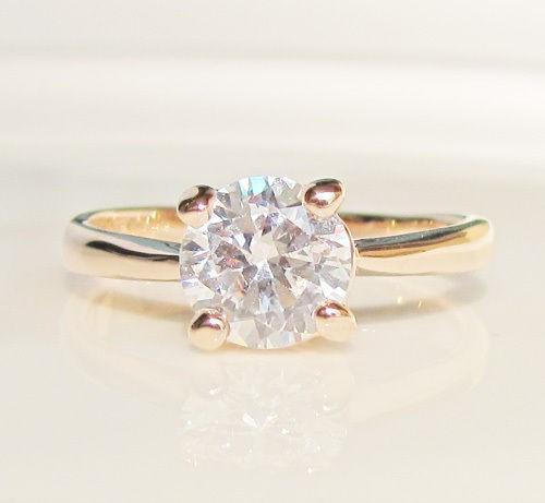 2CT Swarovski crystal Rose Gold GP Ring engagement Promise christmas