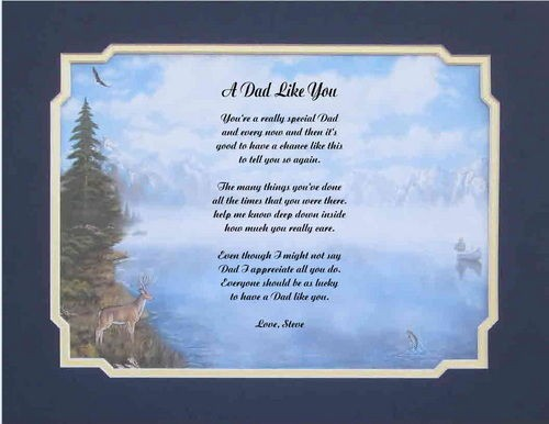 Personalized Poem For Father Dad Gift For Fathers Day 10 Designs