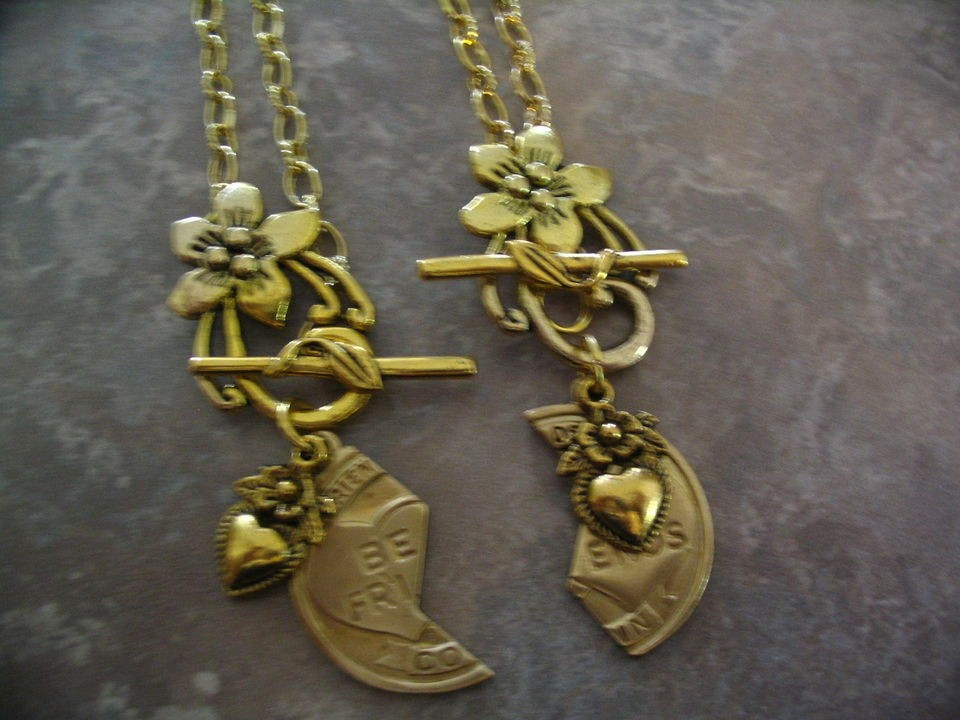 Best Friend Necklaces with Flower Toggle for BFF or Mother Daughter or