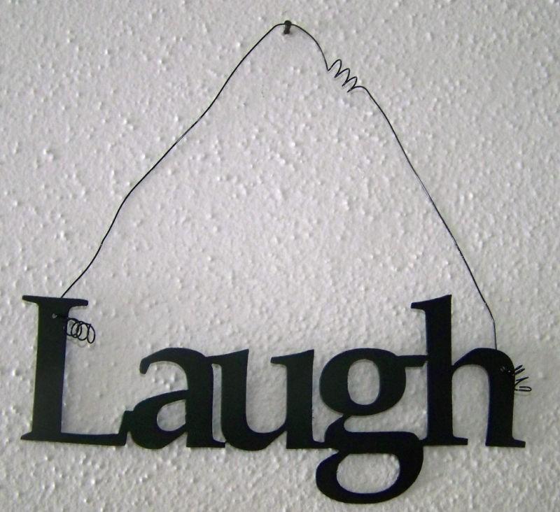 live laugh love metal art