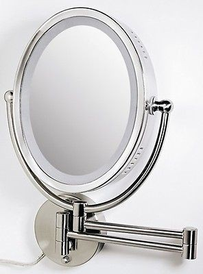 lighted wall makeup mirror in Home & Garden