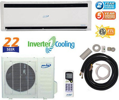 22 SEER Ductless Mini INVERTER Split 2 TON Air Conditioner 24000 BTU