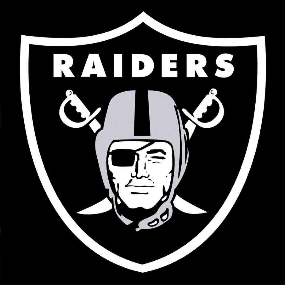Raiders NFL Vinyl Wall Football Logo Sticker Decal Official Print