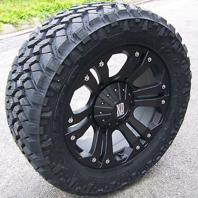 20 MONSTER WHEELS & NITTO TRAIL GRAPPLER TIRE 07 UP TOYOTA TUNDRA