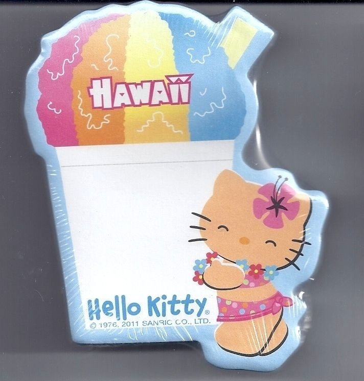 Sanrio Hello Kitty Sticky Notes Hawaii Shaved Ice