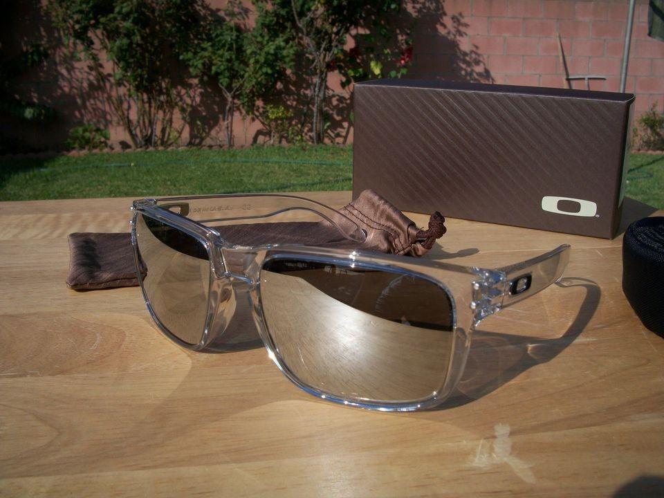 b6b05930d5a ... purchase oakley holbrook sunglasses polished clear w chrome iridium  lens 8d31e b4fec