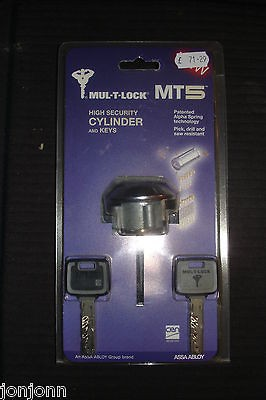 MUL T LOCK MT5 HIGH SECURITY CYLINDER & KEYS. * * * OVER 30% OFF RRP