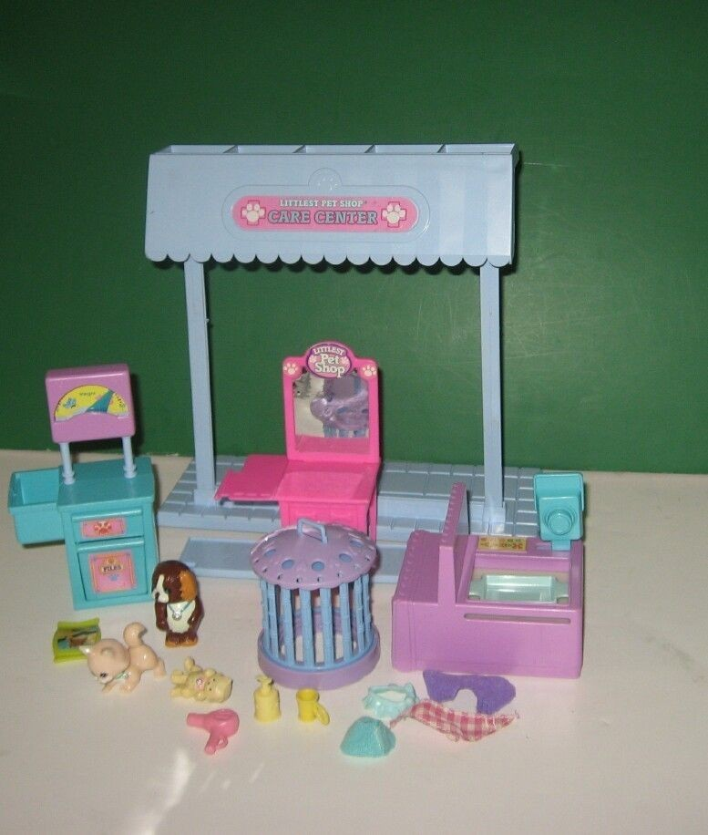 1993 Kenner Littlest Pet Shop Care Center Playset Hospital w/ Kittens
