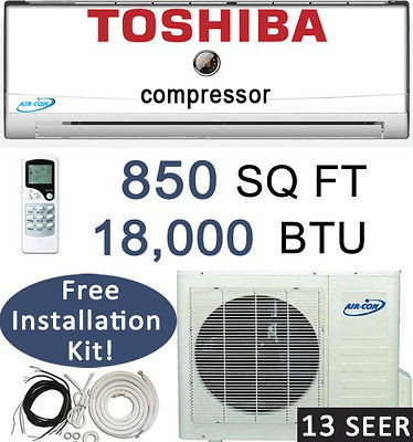 BTU Ductless Mini Split Air Conditioner Heat Pump  25 ft install Kit