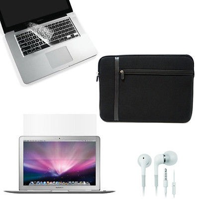 BUNDLE FOR APPLE MACBOOK PRO 15 INCH LAPTOP COVER CASE SLEEVE KEYBOARD