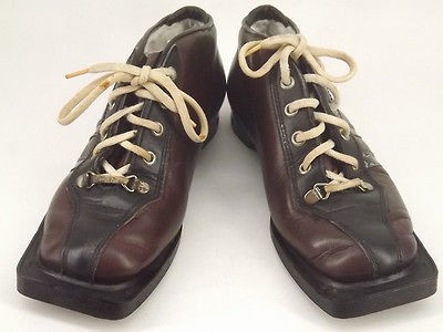 Womens cross country ski boot brown leather Suveren 6 M telemarkl 3