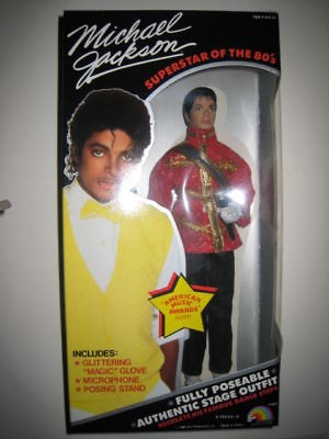 NEW MICHAEL JACKSON DOLL MUSIC AWARDS 1984 NEVER OPENED