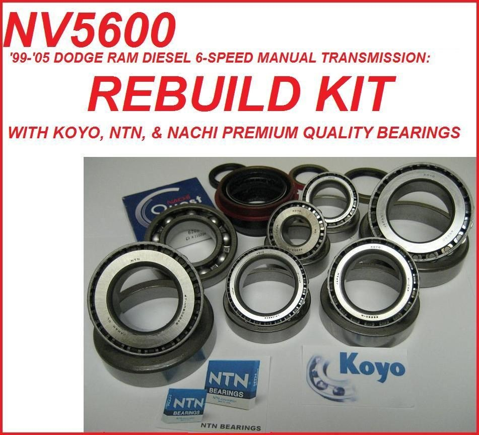 NV5600 DODGE DIESEL 6 SPEED MANUAL TRANSMISSION REBUILD KIT FITS 1998