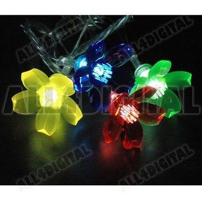 20/Lot CHERRY BLOSSOM Ornament Caps for Xmas Tree LED Fairy String/Net