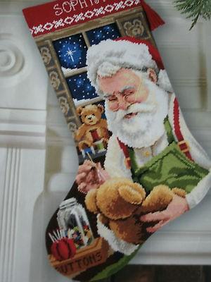 Dimensions Christmas Stocking Kits.Dimensions Needlepoint Kit Bearly Christmas Stocking Santa Tom