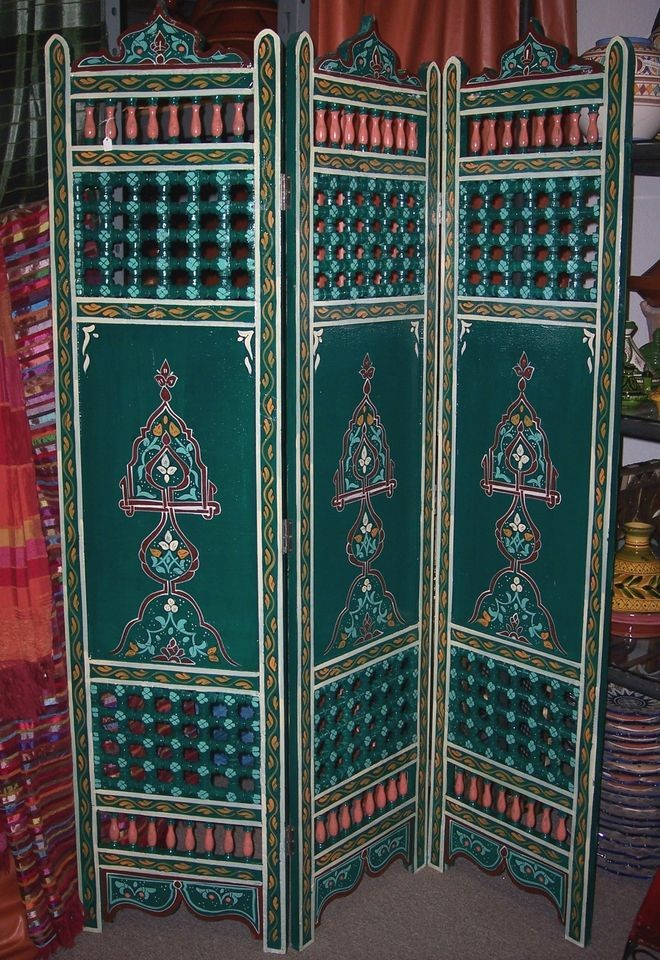 Moroccan Wood Room Divider