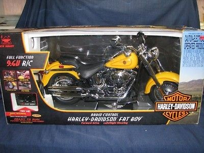 Controlled Harley Davidson Fat Boy Motorcycle   Large Scale  Very Rare