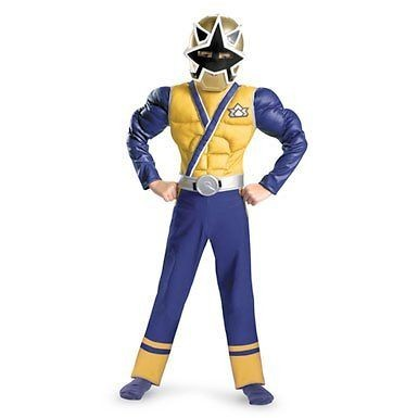 Power Rangers Samurai Super Samurai Gold Ranger Muscle Costume Size 6