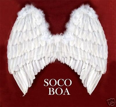 LARGE White Feather Angel Wings Photo Props Halloween
