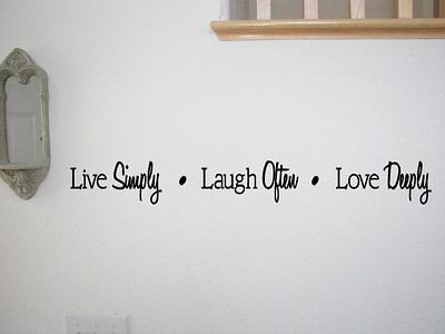 live laugh love vinyl wall quote inspirational decal lettering sticker