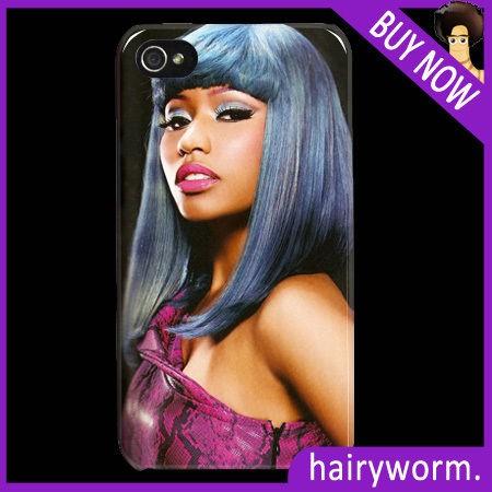 Nicki Minaj Awesome hair protective hard case apple iphone 4 4s