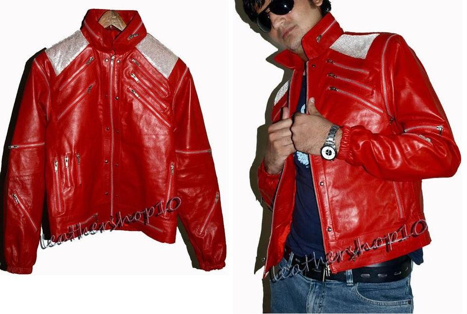 Michael jackson beat it Vintage leather jacket metallic