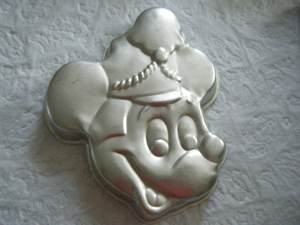 Mickey Mouse Cake Pan Face & Soldier Parade Hat Vintage #515 302