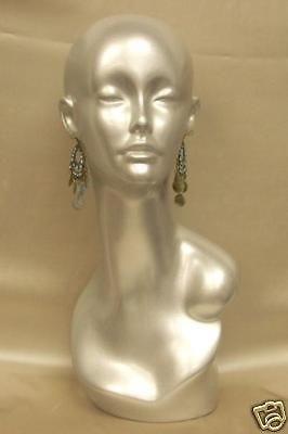 mannequin head vintage wig hat jewelr y display tinas time