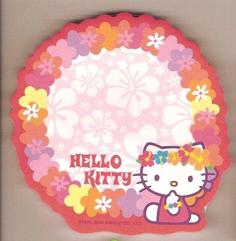 sanrio hello kitty sticky notes hawaii haku lei time left