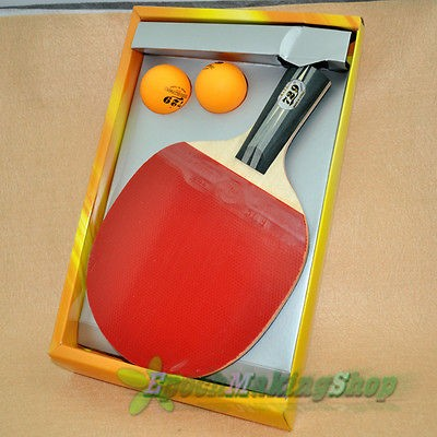 729 2040 Ping Pong Paddle Table Tennis Racket Short handle