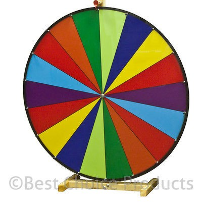 Prize Wheel 30 18 Slot Carnival Tabletop Spin Game Trade
