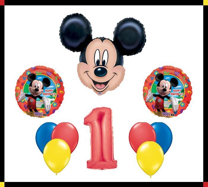 Disney Mickey Mouse Clubhouse 1 Happy Birthday Balloon Set Party