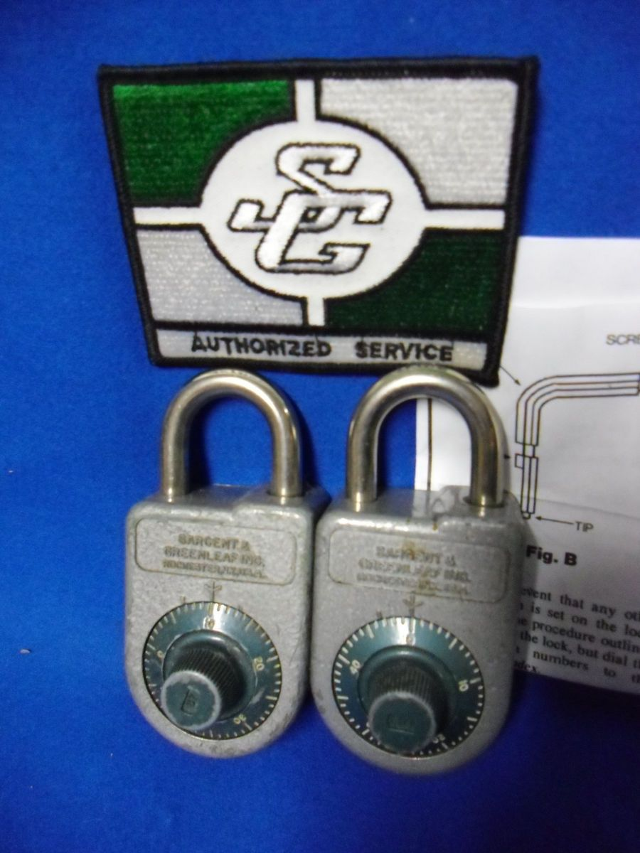 Sargent Greenleaf Changeable High Security Locker Lock Padlocks w