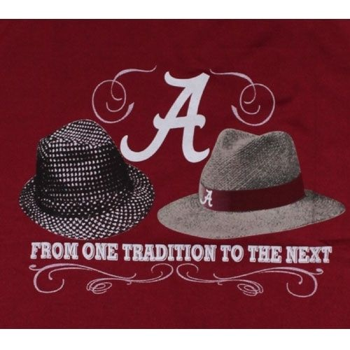 Alabama Crimson Tide T Shirts Nick Saban and Bear Bryant Hats Ladies T