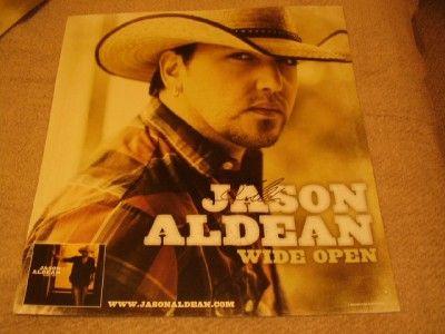 Jason Aldean Autographed 22 x 22 Handsome Color Wide Open Poster