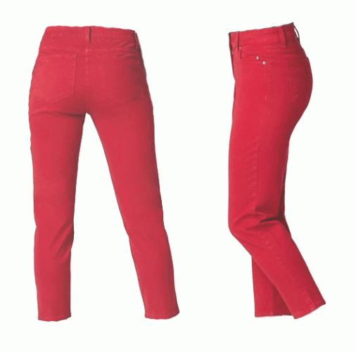 NYDJ not Your Daughters Jeans Alisha Ankle Jeans 30610DT Red