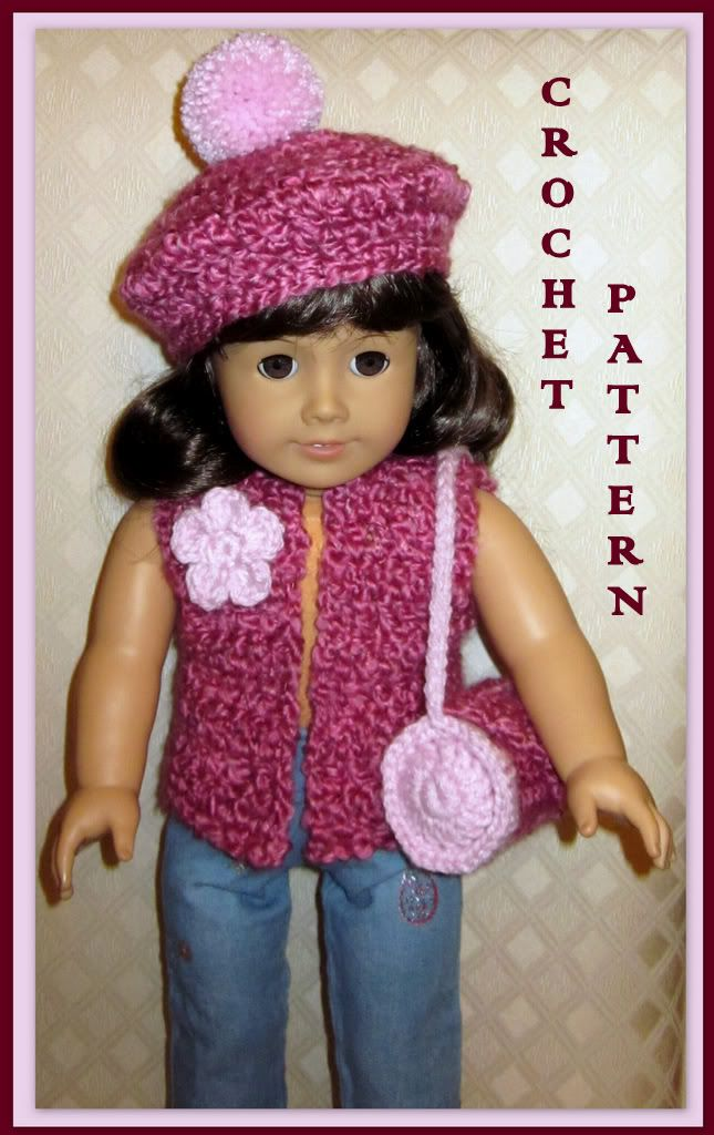 Doll Clothes Crochet Pattern Fits 18 Inch American Girl