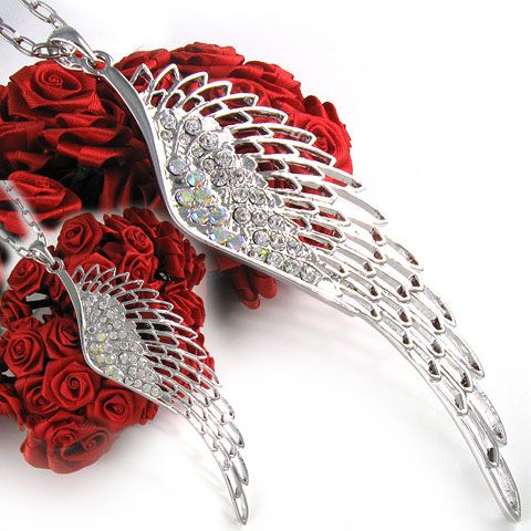 New Gorgeous Angel Wing Necklace Chain Pendant Jewelry