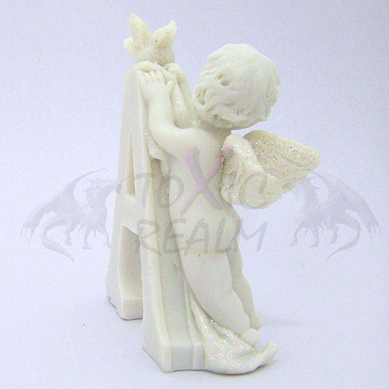 Cherub Angel Small White Wall Decor Cake Topper TR5542 Shelf Sitter