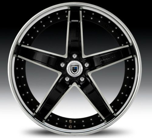 22 asanti AF166 Black Chrome Wheels Rims 3 Piece