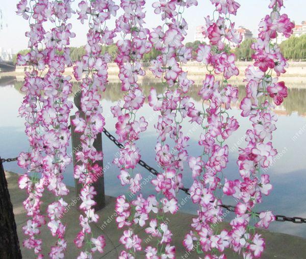 Purple Azalea Vine Artificial 60 Flowers Hanging Wedding Garland Arch