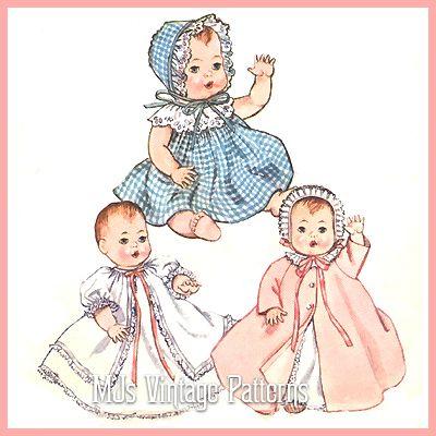 Baby Doll Clothes Vtg Pattern 8 Ginny Ginnette Wendy Ginger Alexander